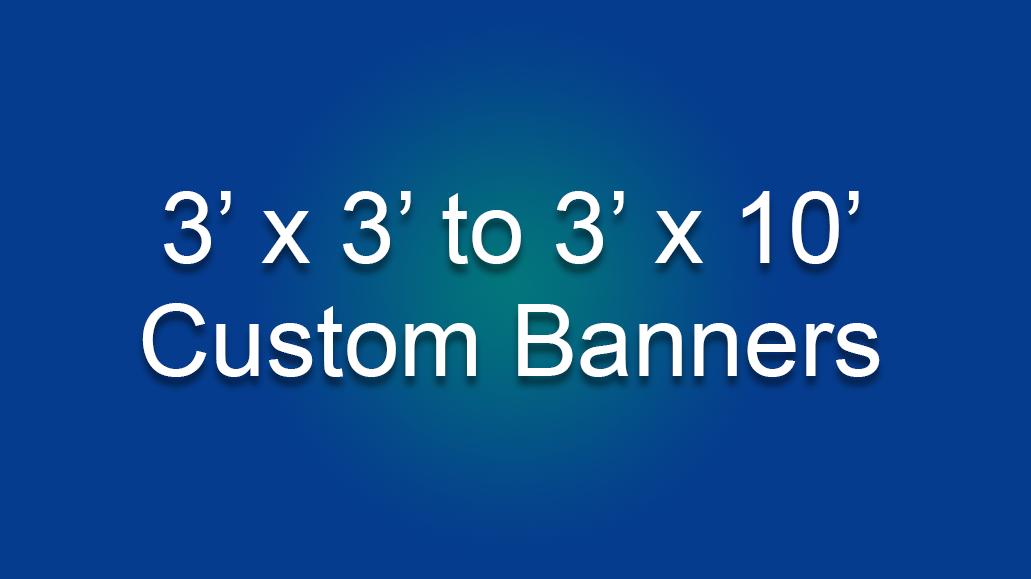 3' Custom Banners