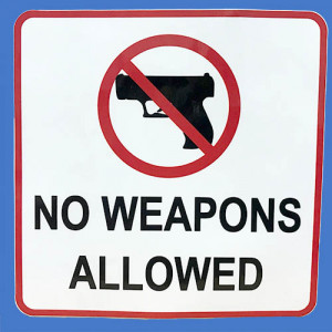 No Weapons Allowed Sticker