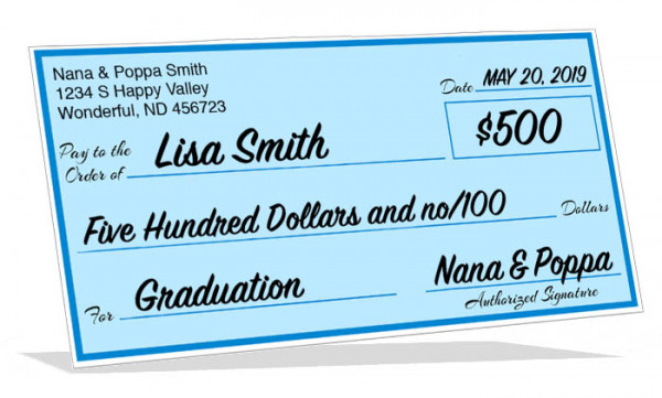 Graduation Big Check