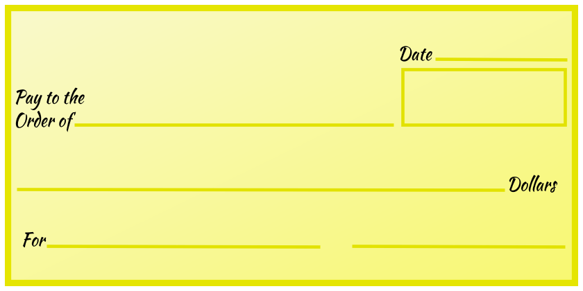Over-Sized Check (Yellow Gradient)