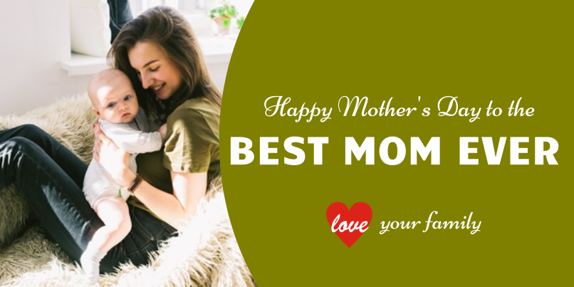 Mother's Day Best Mom (2ft)