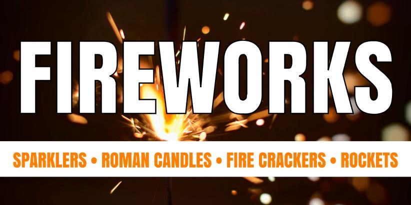 Fireworks (4ft Banner)