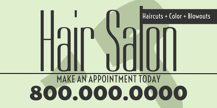 Hair Salon (4ft Banner)