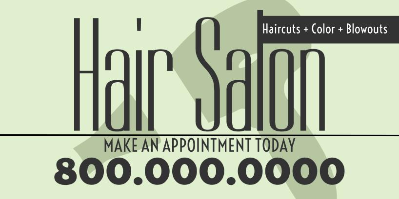 Hair Salon (3ft Banner)