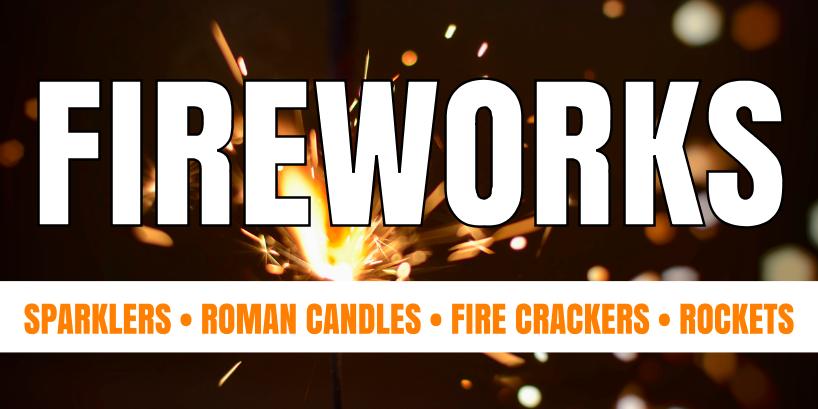 Fireworks (3ft Banner)