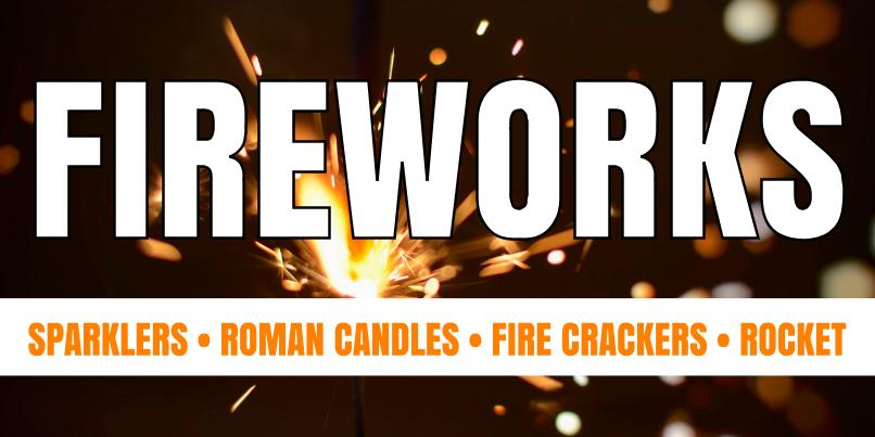 Fireworks (2ft Banner)
