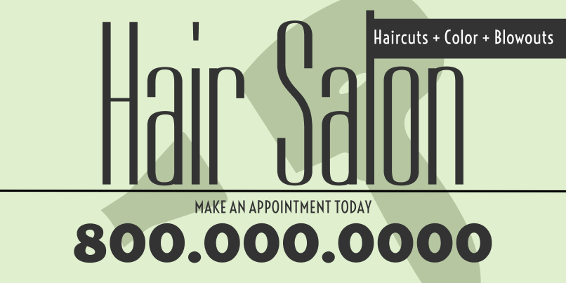 Hair Salon (2ft Banner)
