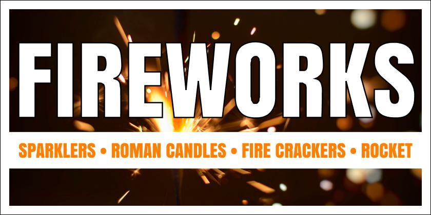 Fireworks (Yard Sign)
