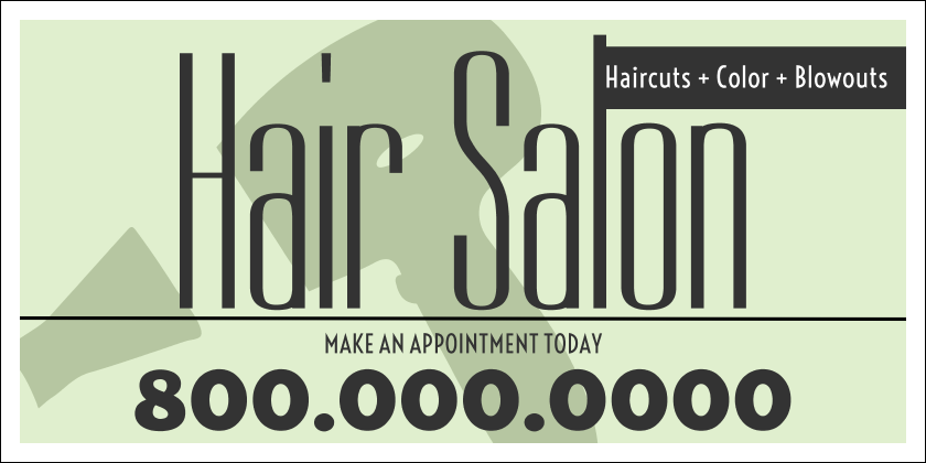 Hair Salon (Yard Sign)