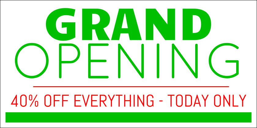 Grand Opening (Yard Sign)