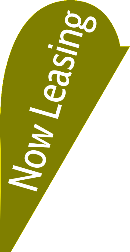 Now Leasing (Teardrop Flag)