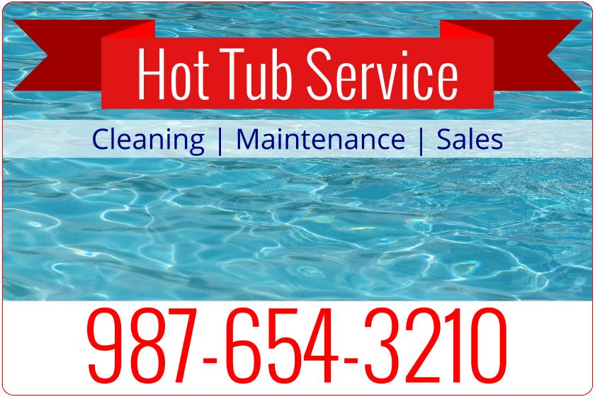 Hot Tub Repair (Magnetic Sign)
