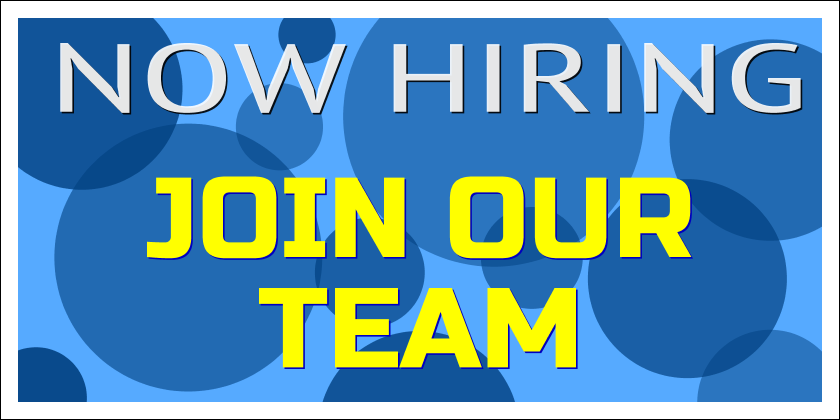 Now Hiring - Join Our Team (Yard Sign)