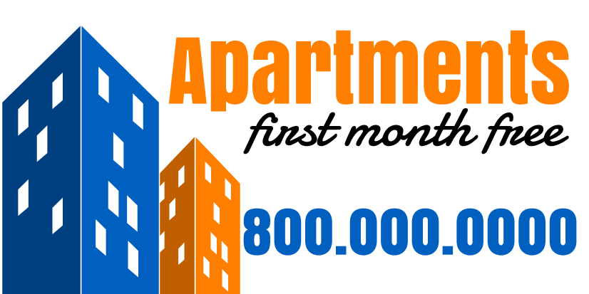 Apartments For Rent (5ft Banner)