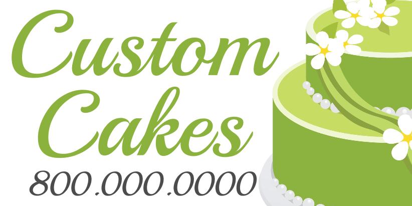 Custom Cakes (4ft Banner)