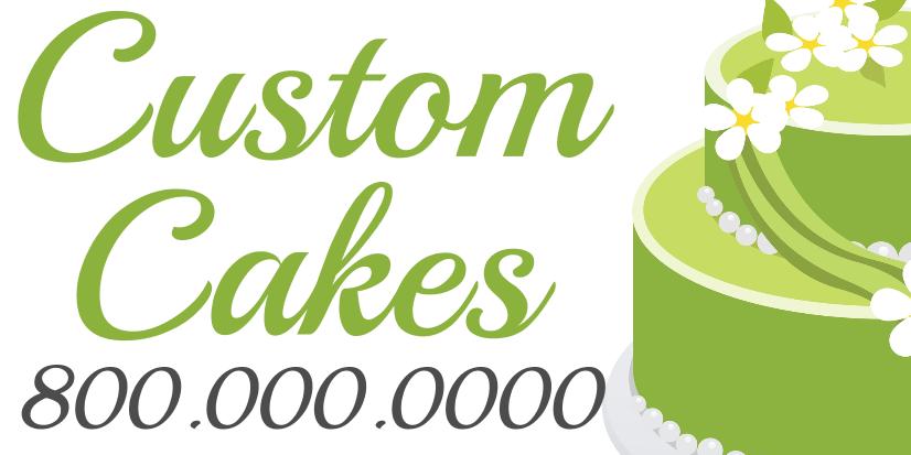 Custom Cakes (5ft Banner)