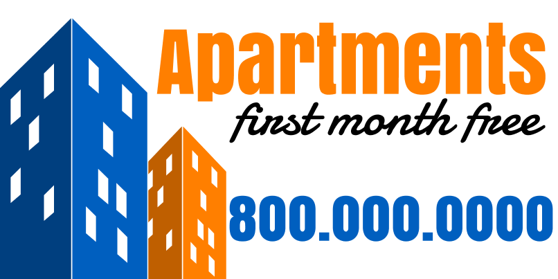 Apartments For Rent (2ft Banner)