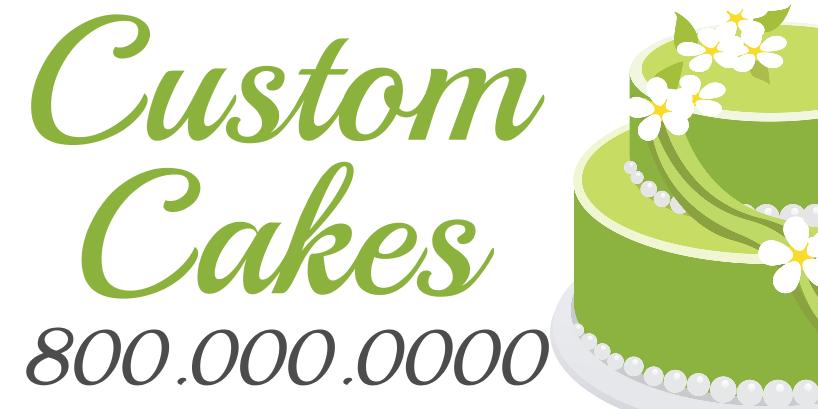 Custom Cakes (3ft Banner)