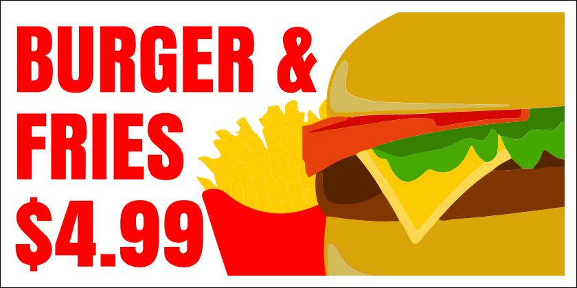 Burger and Fries (Yard Sign)