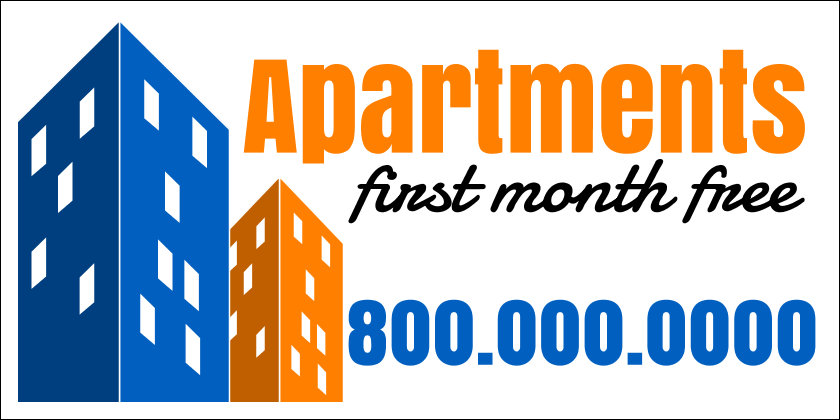 Apartments For Rent (Yard Sign)