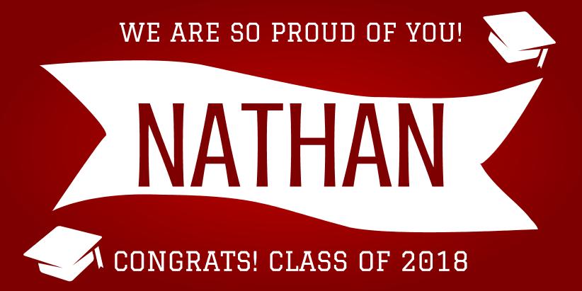 Proud Graduate (4ft Banner)