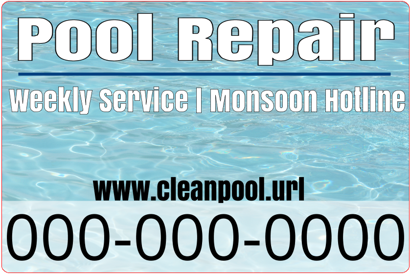 Pool Repair (Magnetic Sign)