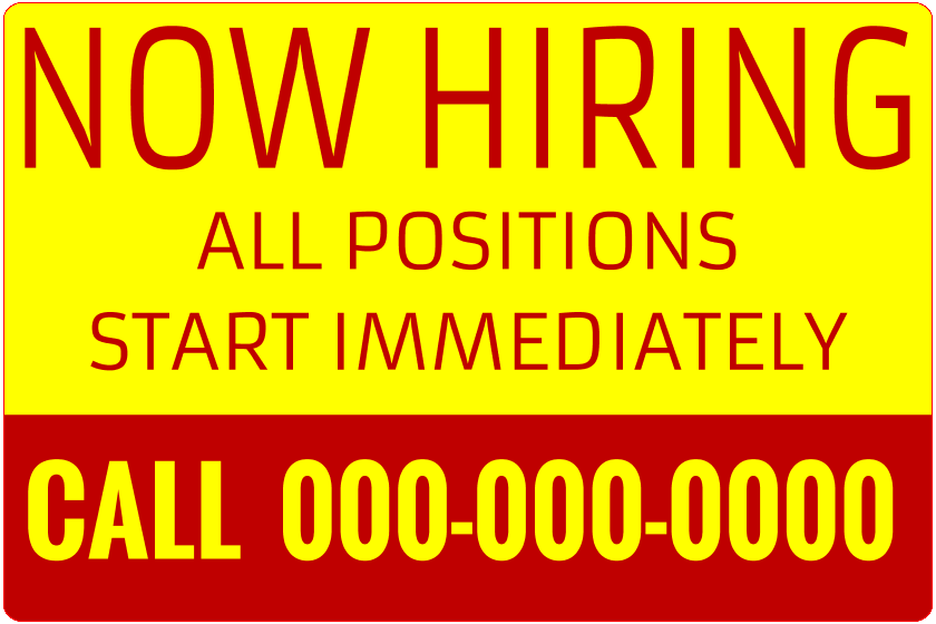 Now Hiring Local