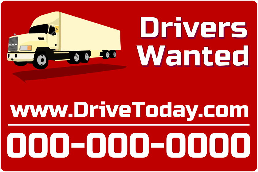 Drivers Wanted (Magnetic Sign)