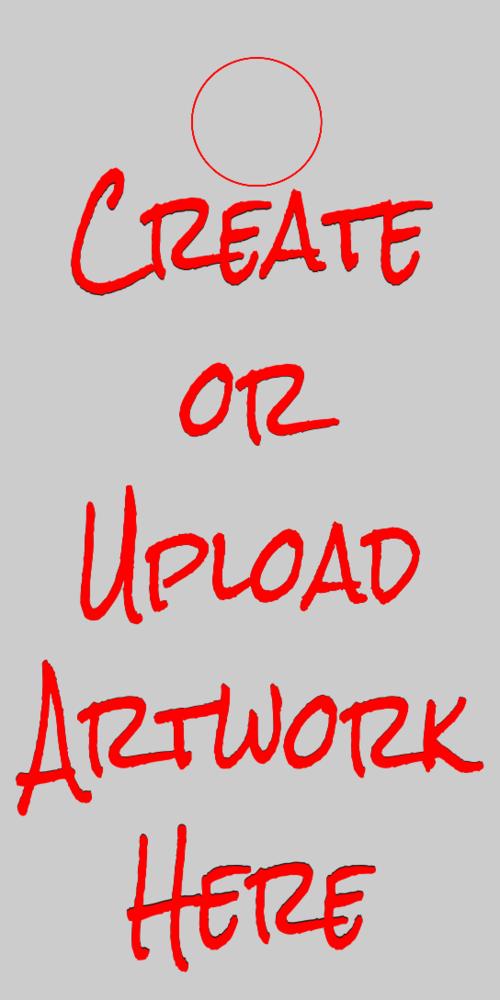 - A Blank Cornhole Graphic or Upload Artwork