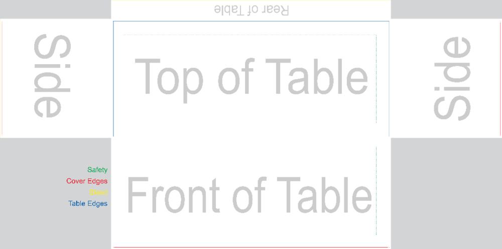 -A Blank Fitted Table Cover-