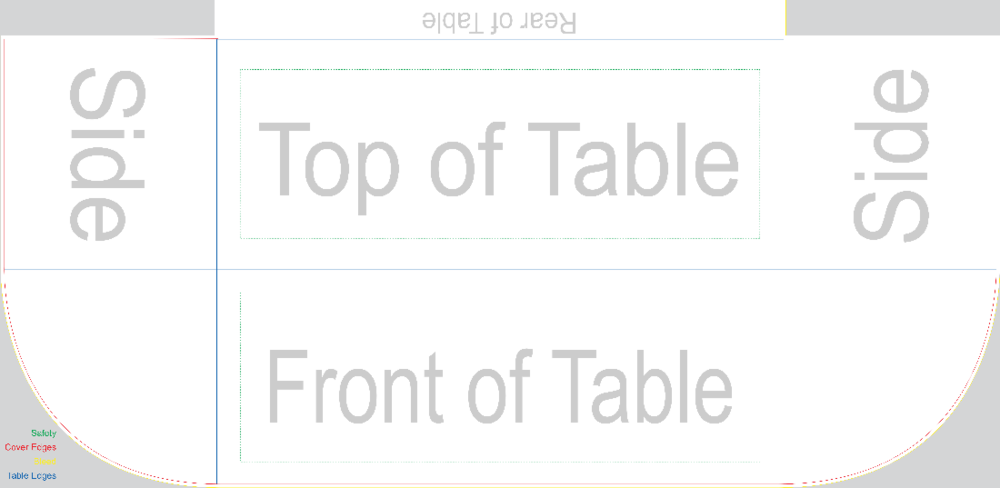 -A Blank Throw Style Table Cover-