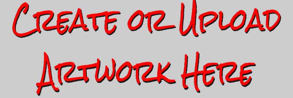 - A Blank Bumper Sticker or Upload Artwork
