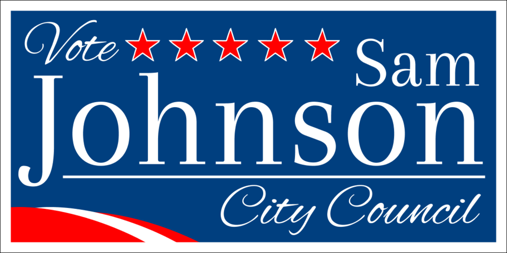 Vote City Council (Yard Sign)