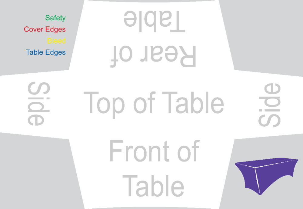 -A Blank Stretch Table Cover-