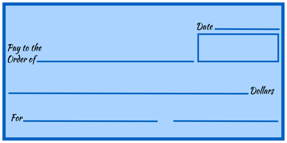 Over-Sized Check (Blue Blank)