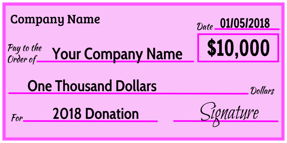 Over-Sized Check (Pink)