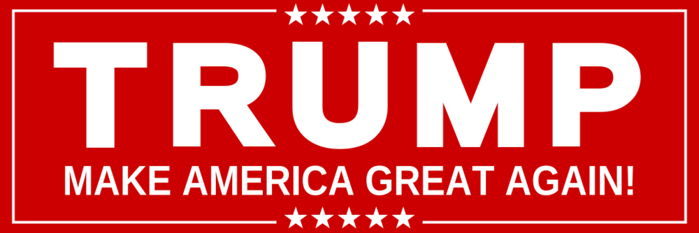 Donald Trump Red (Bumper Sticker)