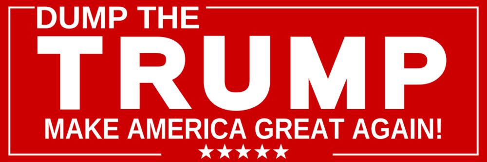 Dump Trump Red (Bumper Sticker)