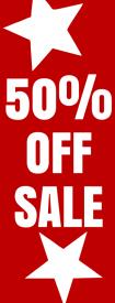 50 Precent Off Sale