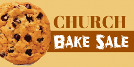 Bake Sale Church - 5ft banner