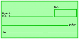 Over-Sized Check (Green Blank)
