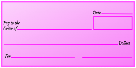 Over-Sized Check (Pink Gradient)