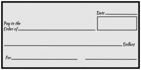 Over-Sized Check (Grey Blank)