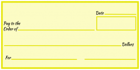 Over-Sized Check (Yellow Blank)