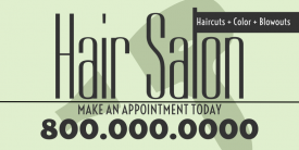 Hair Salon (3ft Banner)