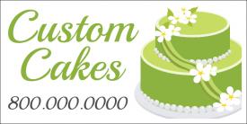 Custom Cakes (Yard Sign)