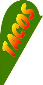 Tacos (Teardrop Flag)