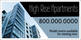 HighRise Apartments (Yard Sign)
