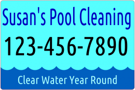 Pool Service (Magnetic Sign)