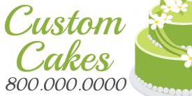 Custom Cakes (2ft Banner)